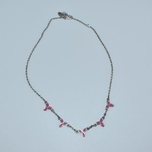Pandora Celtic Knot Pink Silver Necklace